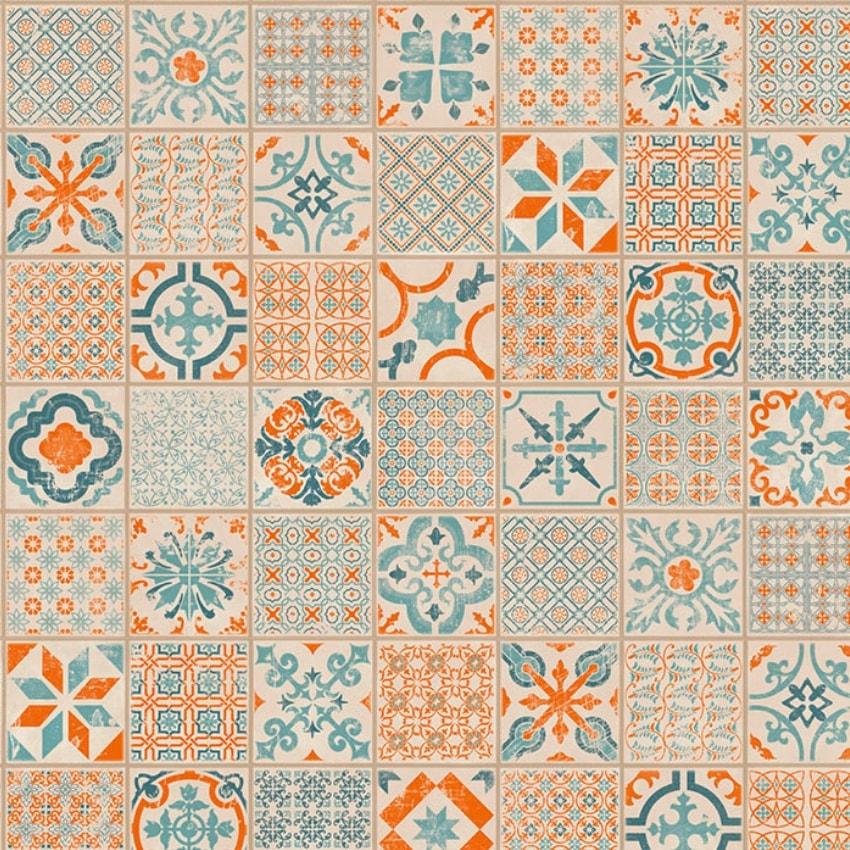 retro orange blue vinila flizes starfloor 30 tarkett